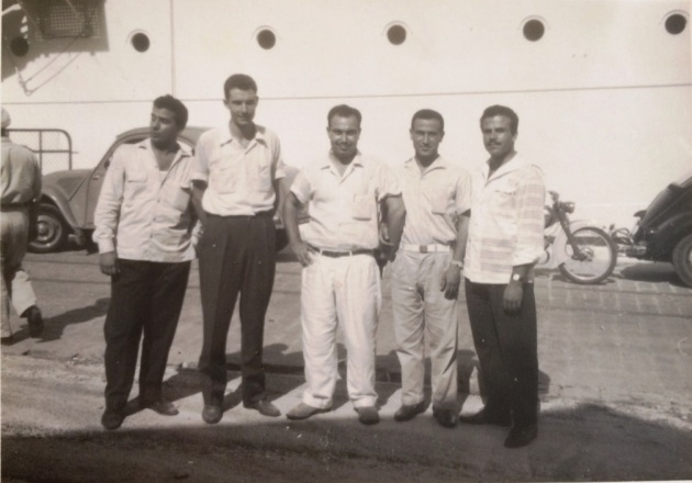 Im Beiruter Hafen, Reise nach Deutschland am 02.07.1960